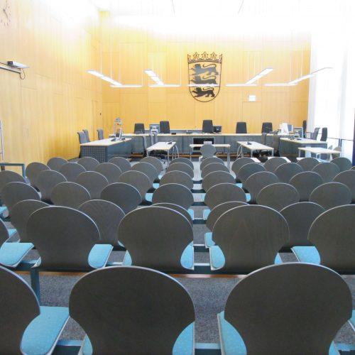Schwurgerichtsaals am Landgericht Ulm